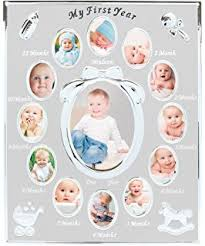 baby collage frame amazon com fashioncraft my first year baby photo collage frame