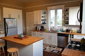 Inimitable Ikea Kitchen Island Butcher Block With Round Top Wooden Bar  Stools Also Rectangular Stainless Steel