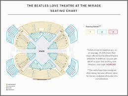 Beatles Love Seating Chart Best Seats Unique Beatles Love Best Seats Love Show Las Vegas Seating