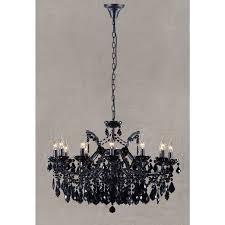 black chandelier black crystal 12 arm