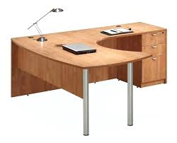 l desk office furniture arc top l shaped desk honey right return by office source 1