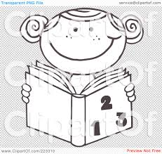 Small Picture Girl Reading Book Coloring Page Coloring Coloring Pages