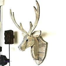 stag head decoration wall mounted aluminium deer antlers art hanging tion home ornaments