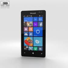 microsoft phone white. microsoft lumia 435 white 3d model phone
