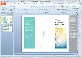 Pamphlet Template Free Simple Brochure Templates For Powerpoint