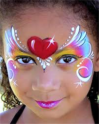 just girlie face painting