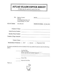 Fax Civer Sheet Aflac Fax Cover Sheet Fill Online Printable Fillable Blank