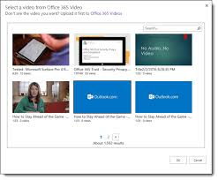 Office 365 Website Design Mesmerizing Embed A Video From Office 48 Video Office Support