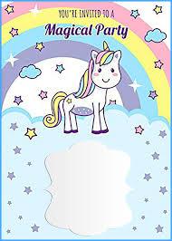 Online Printable Birthday Cards Unicorn Free Printable First Birthday Invitation Template