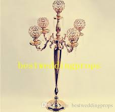 new style metal gold candle holders road lead table centerpiece stand pillar candlestick for wedding candelabra flowers vases best0116 decorations