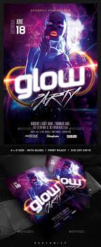 glow flyer glow party flyer party flyer flyer template and template
