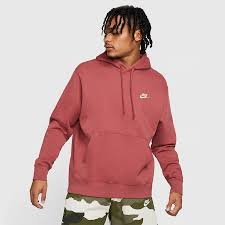 Nike Mens Nsw Club Fleece Pullover Hoodie Cedar White