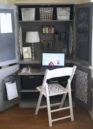 project organized home office armoire. A Diamond In The Stuff: Plain Armoire Into Office Space CONVERTING CUP BOARD SPACE INTO Project Organized Home E