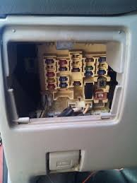 toyota corolla fuse box car talk ia problem is i don t know which fuse controls those areas can anyone help me locate it so i can replace it dis is a pic of d fuse box beside d steering