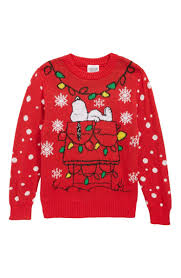 Light Up Christmas Sweater Kids Jem X Peanuts Snoopy Light Up Holiday Sweater Toddler