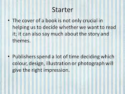 the boy in the striped pyjamas lesson ppt video online  starter the cover of a book is not only crucial in helping us to decide whether