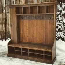 Rustic Entryway Coat Rack Reclaimed Hall Tree Locker Benchechopeakdesign On with Rustic 43