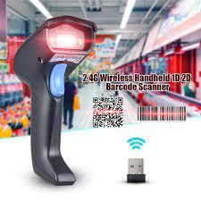 2.4G Kablosuz Kablolu Akülü El 1D 2D QR Barkod Barkod Tarayıcı Okuyucu  Süpermarket için Kütüphane Express Şirket Depo|bar code scanner