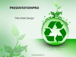 Recycle With Leaves Powerpoint Template Background In