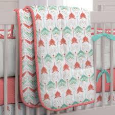 139 00 c and teal arrow crib comforter