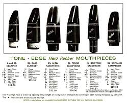 Tenor Saxophone Mouthpiece Chart Otto Link Mouthpieces Theo Wanne