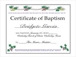 Sample Baptism Certificate Template Classy Baptism Certificate Template Publisher Feedscast