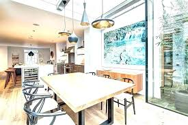dining table pendant light height dining table pendant light hanging lights above kitchen height over