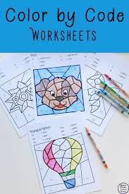 Free, printable coloring pages of christmas toys are fun for kids. Colour By Code Worksheets Simple Living Creative Learning