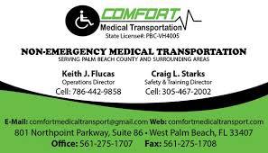 Comfort Medical Transport Business Cards Tight Designs