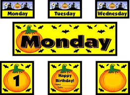 Calendar Numbers For Pocket Chart Halloween Bulletin Board Displays And Puzzles