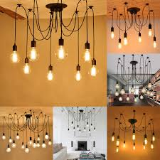 you may also like retro industrial hanging light lamp diy spider chandelier ceiling pendant lights