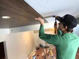 diy wood plank ceilings 5 easy steps