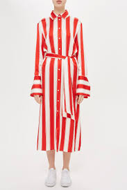 Stripe Silk Satin Shirt Dress By Boutique Shopperboard