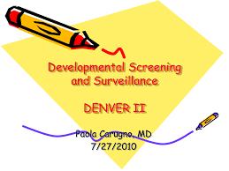Denver Developmental Milestones Chart Denver Developmental Screening Test 7 27 10