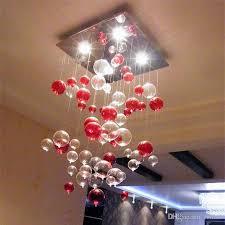 indoor pendent light red bubble pendent light glass chandelier sitting room light dining room lamp study bedroom lamp dome lighting modern pendant light