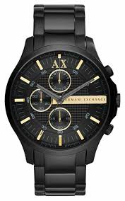 armani exchange mens all black watch ax2164 armani exchange ax2164