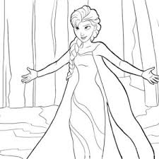 Small Picture Elsa Running on the Frozen Lake Coloring Page Elsa Running on the
