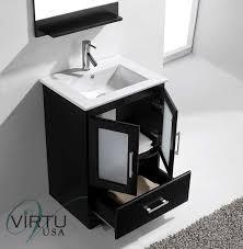 virtu usa zola 24 single bathroom vanity cabinet set in espresso