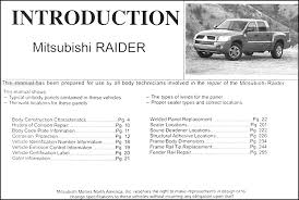 2006 mitsubishi raider body manual original this manual covers all 2006 mitsubishi raider models including ls es sedan this book measures 11 x 8 25 and is 0 56 thick