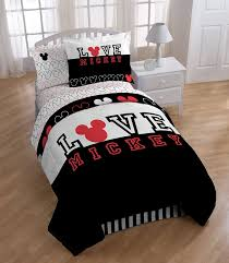 disney mickey mouse love comforter with sham set twin