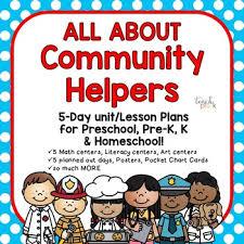Community Helpers Chart Pdf Community Helpers 5 Day Lesson Plan For Preschool Pre K Homeschool