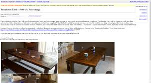 Dining Table Craigslist Whining And Dining My Goldilocks Table Syndrome Or How I Learned