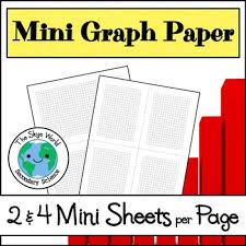 Graph Paper 4 Mini Sheets Per Page Worksheet