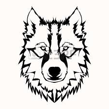 wolf face black and white. Simple Black Vector  Illustration Of Wolf Face Black And White Tattoo To Wolf Face Black And White O