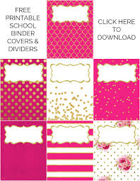 Printable Binder Inserts Binder Covers Dividers Free Printables Binder Covers