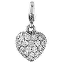 cartier puffed diamond heart charm cartier jewelry