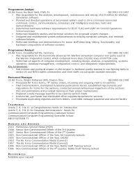 Military Level Resume Samples