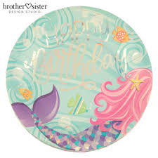 Mermaid Tail Birthday Plates - Large | Hobby Lobby 1705797