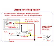 digital volt amp meter wiring diagram wiring library 2in1 digital voltmeter ammeter dc 100v 50a digital tester red led display volt amp meter
