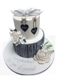 Doves Ring Engagement Cake